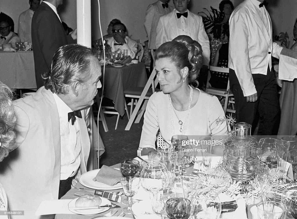 The princes of Monaco Rainier and Grace at a party at 'Marbella Club' Marbella Malaga Spain