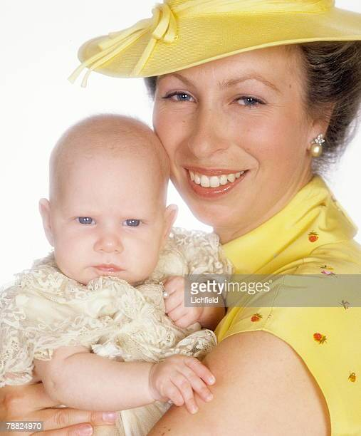 HRH The Princess Anne and her daughter Miss Zara Phillips on the occasion of her Christening at Windsor Castle on 27th July 1981 this picture was...