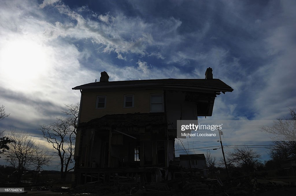 The Princess Cottage Inn, victimized by Superstorm Sandy a month prior, remains devastated on December 5, 2012 in Union Beach, New Jersey. With a population of 6,200, roughly 1,000 homes were flooded and 200 rendered inhabitable.