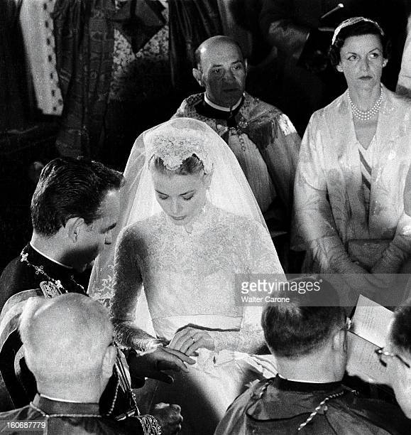 The Princess Grace And The Prince Rainier Iii Of Monaco The Religious Marriage Civil And Evening Cérémonie du mariage en la cathédrale SaintNicolas à...
