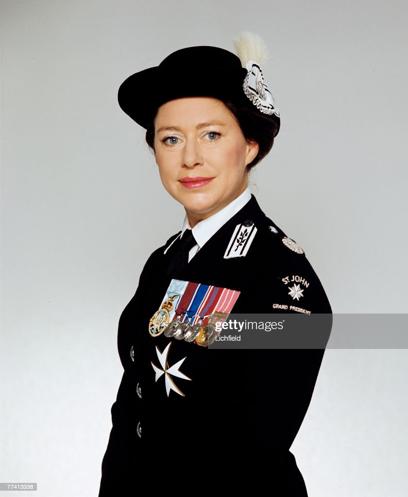 HRH The Princess Margaret, Grand President of St John Ambulance, on . (Photo by Lichfield/Getty Images).