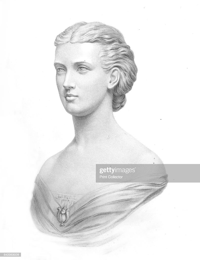 H.R.H. The Princess of Wales', 1859. Alexandra of Denmark, Queen consort of the United Kingdom of Great Britain and Ireland and Empress consort of India as the wife of King-Emperor Edward VII. After Mrs. Mary Thornycroft (1809-1895). From The History of England Div XIII., by David Hume & Tobias Smollett. [Virtue & Co., London, 1859]. Artist: William Roffe.