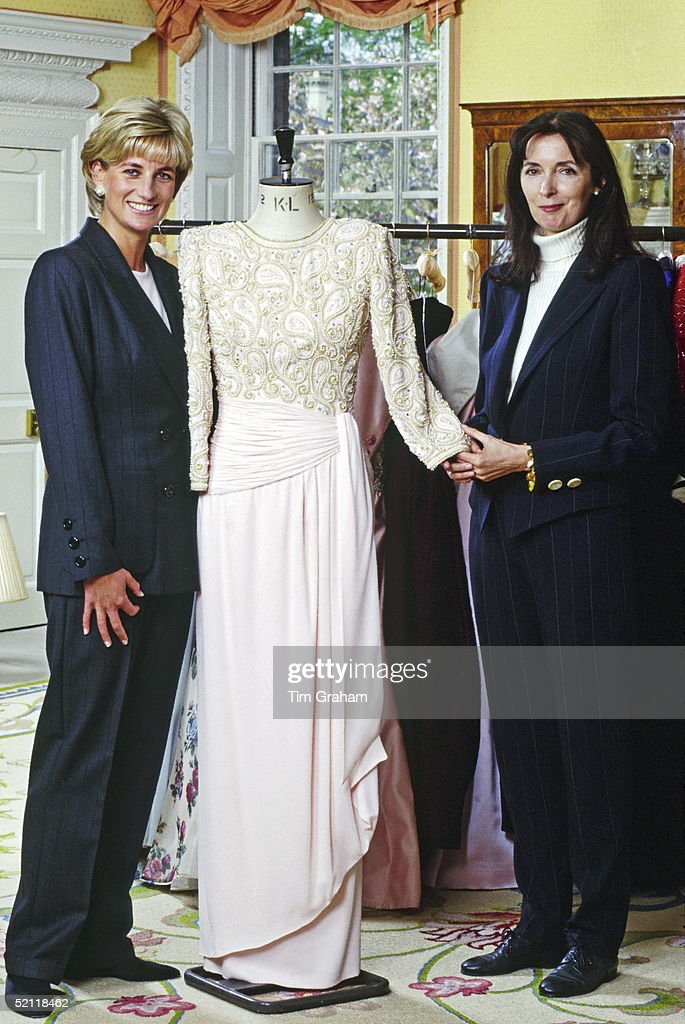 The Princess Of Wales At Home In Kensington Palace With Fashion Designer, Catherine Walker