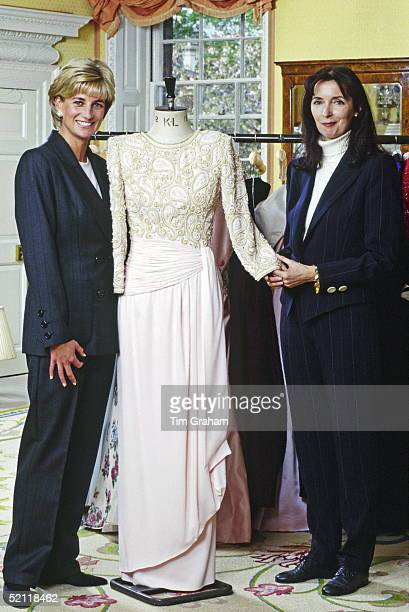 The Princess Of Wales At Home In Kensington Palace With Fashion Designer Catherine Walker