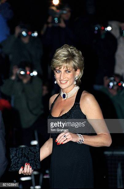 The Princess Of Wales Attending A Gala Evening In Aid Of Cancer Research At Bridgewater House London