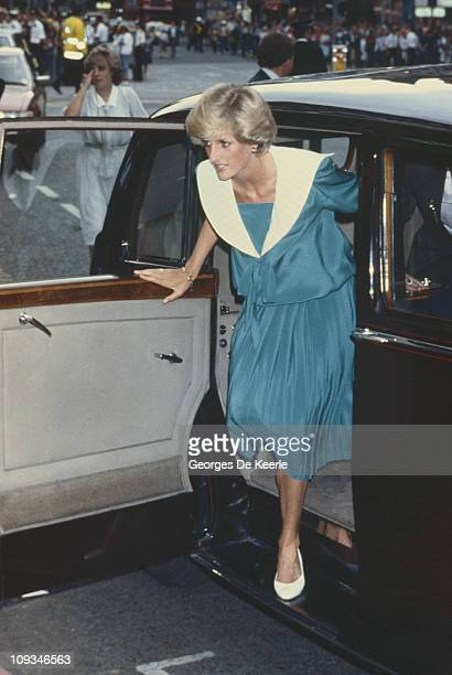 The Princess of Wales attends a Duran Duran concert at the Dominion Theatre in London 20th July 1983