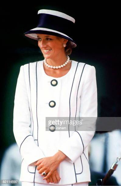 The Princess Of Wales Attends Vj Day Commemorative Events Wearing A Suit By Bashoin Designer Tomasz Starsewski And Hat By Milliner Philip Somerville