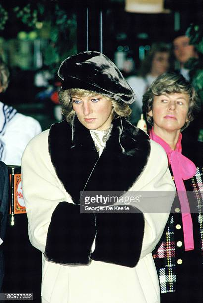 The Princess of Wales in a Hamburg department store during an official visit to Germany on November 6 1987 in Hamburg Germany