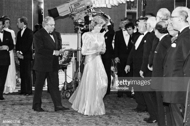 The Princess of Wales Princess Diana attends The Royal Premiere of the 14th 007 James Bond Movie 'A View To A Kill' at the Odeon Cinema Leicester...