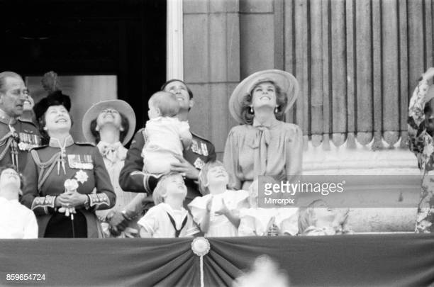 The Princess of Wales Princess Diana The Prince of Wales Prince Charles and their sons Prince William and Prince Harry join the Queen Elizabeth II...