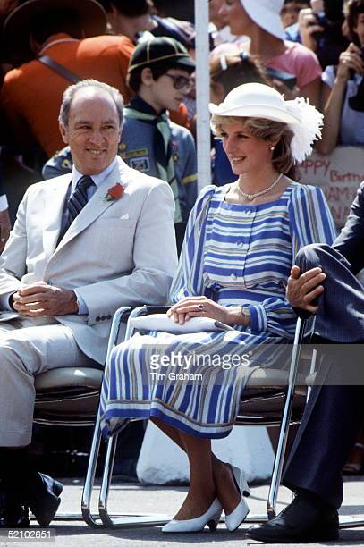 The Princess Of Wales With Prime Minister Pierre Trudeau In Ottawa Canada