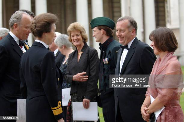 The Princess Royal accompanied by the National President of the Royal British Legion Air Vice Marshal Ian D Macfadyen is introduced to the Chief...