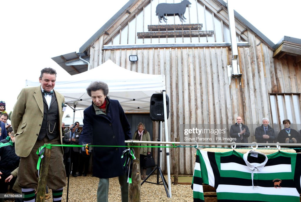 the-princess-royal-cuts-a-ribbon-to-officially-open-the-new-clubhouse-picture-id647504808