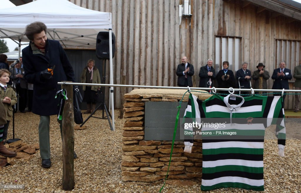 the-princess-royal-cuts-a-ribbon-to-officially-open-the-new-clubhouse-picture-id647505170