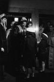 The Princess Sofia Of Greece In New York Le 30 octobre 1958 a New york lors d'un voyage aux Etats Unis la Reine Frederika de Grece lors d'un...
