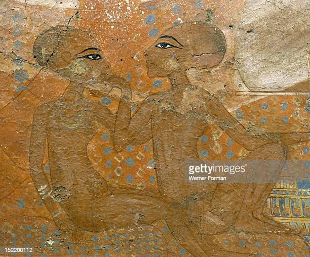 The Princesses fresco daughters of Akhenaten Egypt Culture Ancient Egyptian Amarna 1353 1335 BC