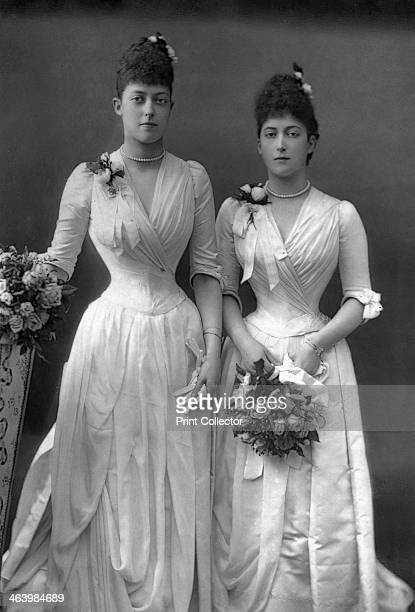The Princesses Victoria and Maud of Wales 1890 Victoria and Maud were daughters of King Edward VII From The Cabinet Portrait Gallery first series...