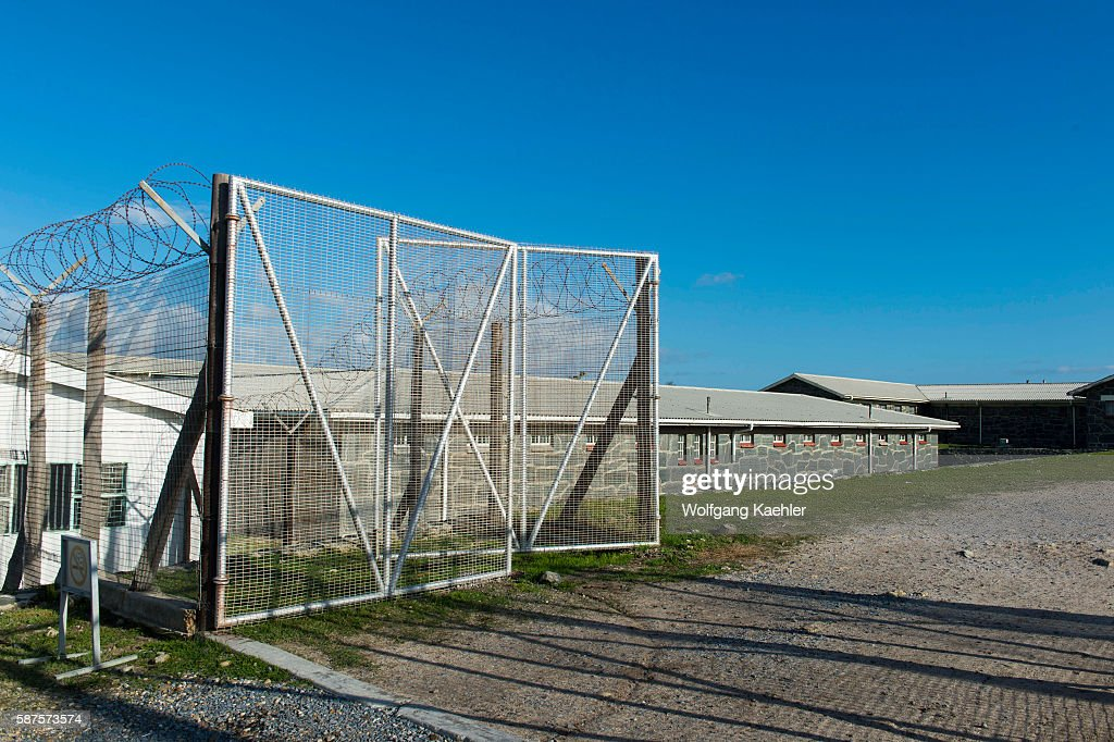 The prison facilities on Robben Island which is an island in Table Bay 69 km west of the coast of Cape South Africa and has been used for the...