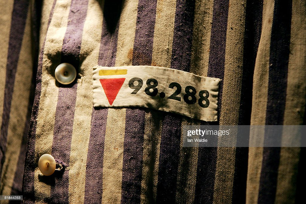 The prison uniform of Auschwitz survivor Mr Leon Greenman, priosoner number 98288 is displayed on December 9, 2004 at the Jewish Museum in London, England. Mr. Greenman O.B.E age 93 and a British citizen, spent three years of his life in six different concentration camps during World War II and since 1946 he has tirelessly recounted his life through his personal exhibition at the museum where he conducts educational events to all age groups. January 2005 will be the 60th anniversary of the liberation of the extermination and concentration camps, when survivors and victims who suffered as a result of the Holocaust will commemorated across the world.