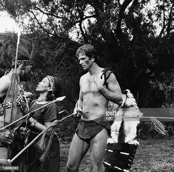 TARZAN 'The Prisoner' Episode 5 Pictured Woody Strode as Jamayo Mimi Dillard as Nione Ron Ely as Tarzan