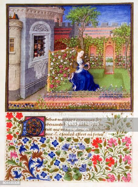 The prisoners listening to Emily singing in the garden 13401341 From Teseida delle nozze di Emilia by Giovanni Boccaccio From the Osterreichische...