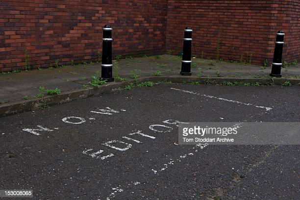 The private parking space for the editor of the News of the World at the former News International base in Wapping East London Media mogul Rupert...