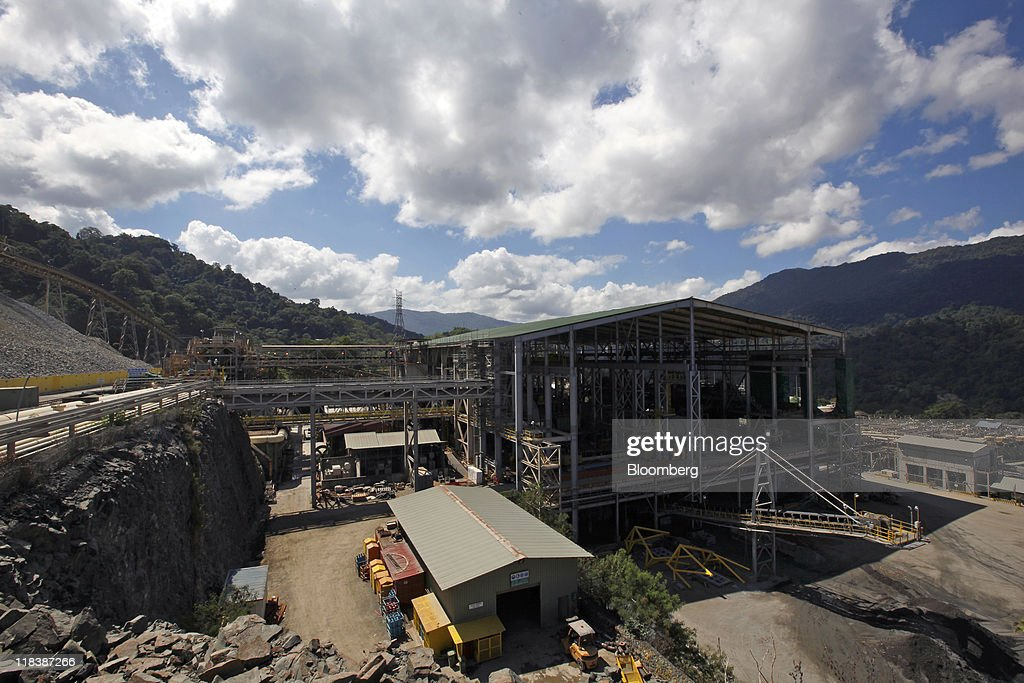 The processing plant sits in the Batu Hijau copper and gold mine operated by PT Newmont Nusa Tenggara in Sumbawa, West Nusa Tenggara province, Indonesia, on Wednesday, June 29, 2011. PT Newmont Nusa Tenggara is a unit of Newmont Mining Corp. Photographer: Dadang Tri/Bloomberg via Getty Images