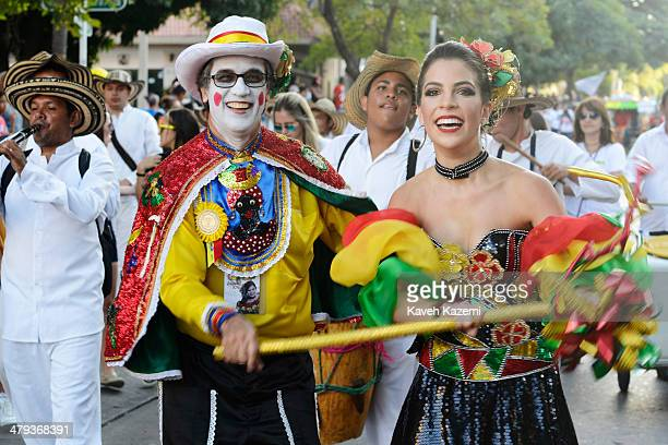 BARRANQUILLA COLOMBIA JANUARY 26 2014 The procession of Children's Carnival on January 26 2014 in Baranquilla Colombia This preevent carnival for...