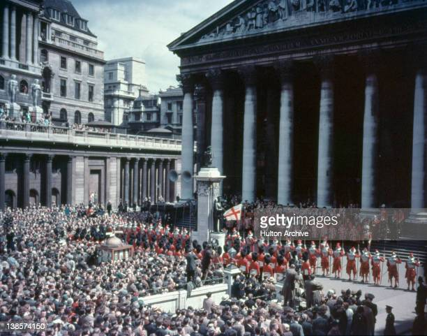 The proclamation of the ascension of Queen Elizabeth II to the thone read at the Royal Exchange London 6th February 1952
