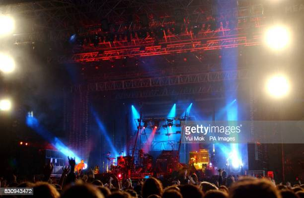 The Prodigy performing on the main stage at the Carling Reading Festival