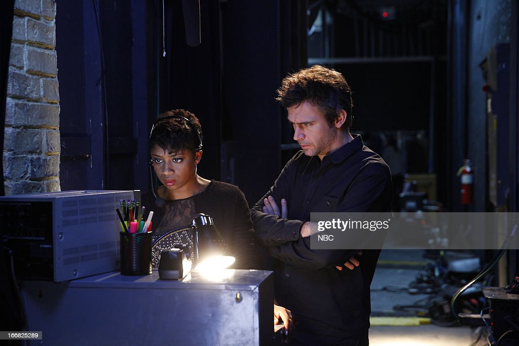 SMASH 'The Producers' Episode 213 Pictured Montego Glover as Marissa Jack Davenport as Derek Wills