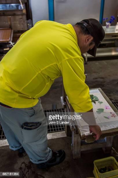 CHICHIBU OGAWAMACHI SAITAMA JAPAN The production of washi paper at WashiNoSato in Ogawamachi Saitama was listed by UNESCO as Human Intangible...