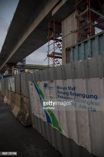 The progress view of MRT project at BlokM Area South Jakarta The development of MRT at Lebak BulusFatmawatiBlok M has already reach 65%