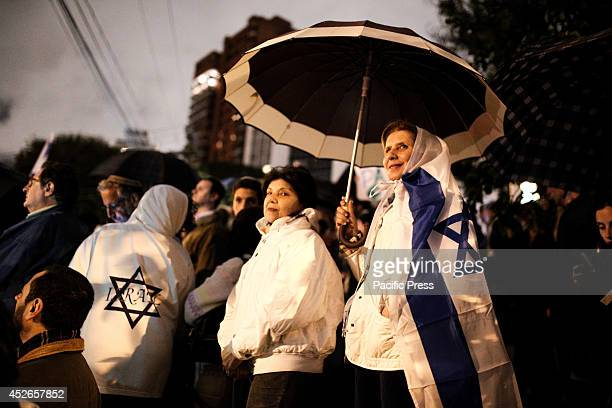 The ProIsrael Jews hold a demonstration calling for peace in Israel and in favor of the Israel's right to defend itself from Hamas The demonstration...
