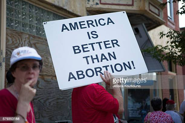 The ProLife Coalition of Pennsylvania holds a 'Mercy Witness For Life' rally on July 23 2016 outside of the former site of Dr Kermit Gosnell's closed...