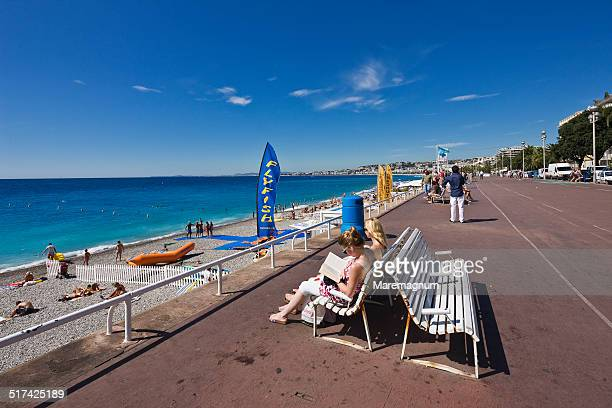 The Promenade des Anglais and the beach