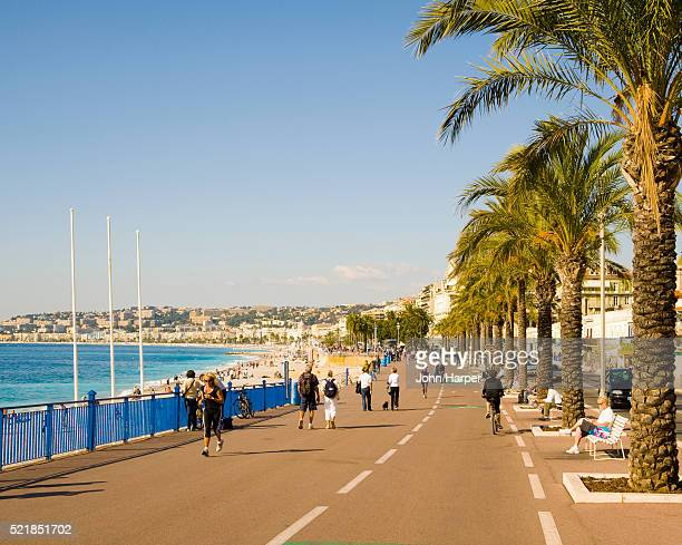 The Promenade des Anglais; Nice; Cote d'Azur; France.