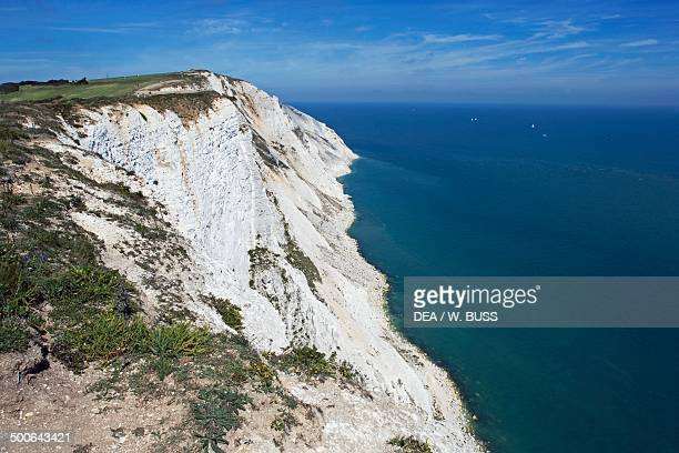The promontory of Beachy Head on the English Channel Eastbourne East Sussex England United Kingdom