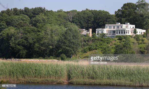 The property at 118 Forbes Road in Milton MA is pictured on Jun 12 2017 The homeowners are hoping to install a funicular for easier access to the...