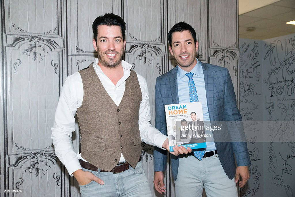 the property brothers jonathan scott and drew scott attend aol build series at aol on april - Drew Scott