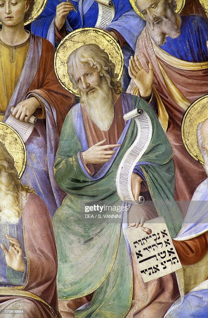 The Prophets 1447 by Fra Angelico frescoed sail vault first span Chapel of San Brizio right transept of Orvieto Cathedral Orvieto Umbria Italy Detail...