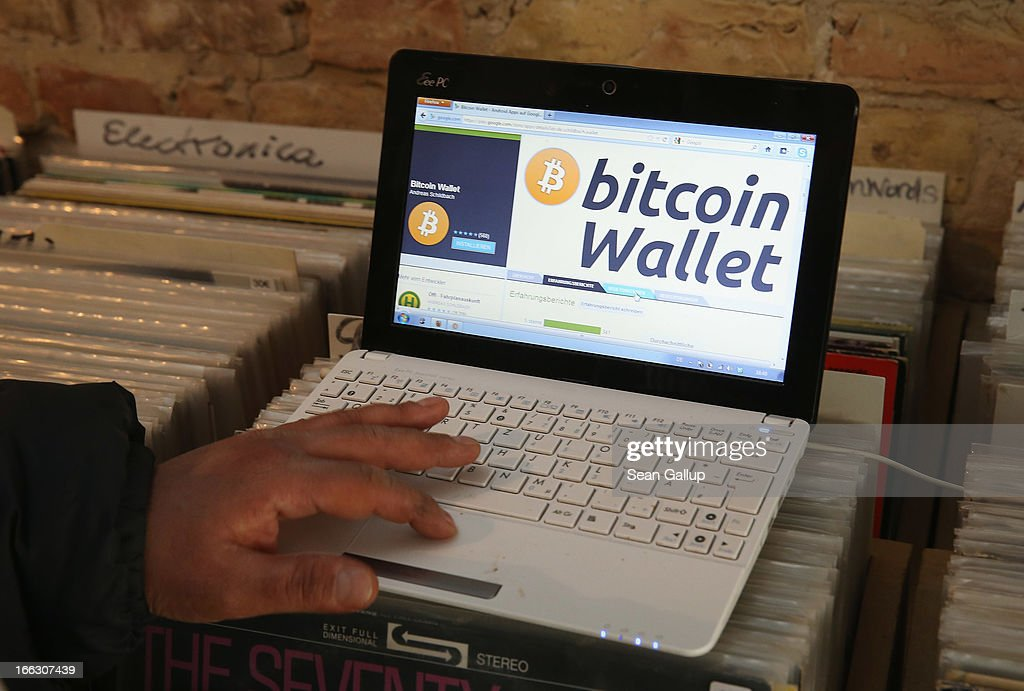 The proprietor of a shop selling vinyl records and that accepts Bitcoins for payment brings up, at the request of the photographer, the Bitcoins website on the proprietor's computer on April 11, 2013 in Berlin, Germany. Bitcoins are a digital currency traded on the MTGox exchange, and the value of the virtual money fluctuated from USD 260 per bitcoin down to USD 130 per bitcoin yesterday and recovered somewhat in trading today.