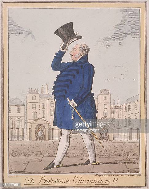 'The Protestant's Champion' 1825 Frederick Duke of York walks down Whitehall past Horse Guards the headquarters of the commanderinchief of the...