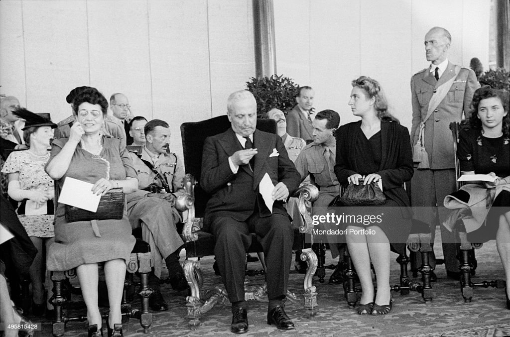 The provisional Head of State of Italy Enrico De Nicola sitting on an armchair Venice 1946