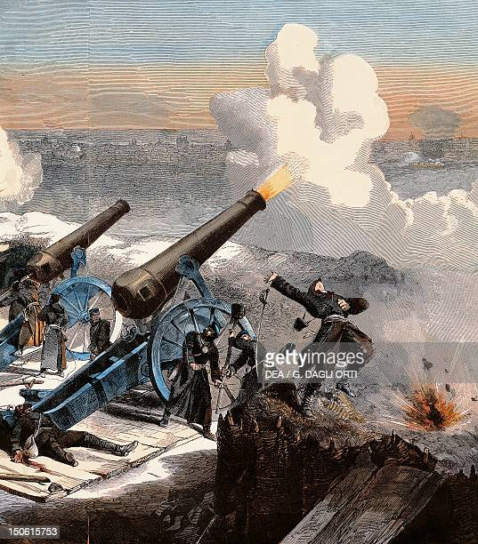 The Prussian artillery bombard Paris Detail FrancoPrussian War France 19th century