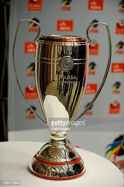 The PSL trophy sits on display at the launch of 2010/2011 PSL Season at Soccer City on August 16 2010 in Johannesburg South Africa