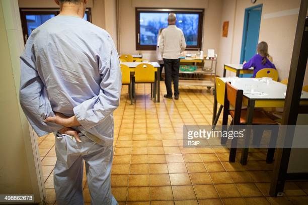 The psychiatric unit of a hospital in Haute Savoie France The common room where patients eat their meals