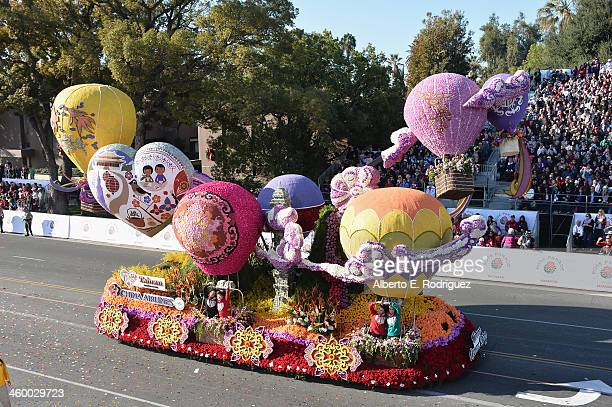 The Public Storage float attends the 125th Tournament of Roses Parade Presented by Honda on January 1 2014 in Pasadena California