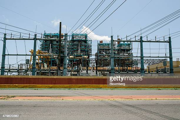 The Puerto Rico Electric Power Authority's Palo Seco power plant stands in San Juan Puerto Rico on Tuesday July 7 2015 Puerto Rico failed in its bid...