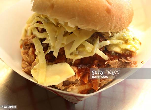 The Pulled Pork Sandwich with Cole Slaw sells for $700 Geovanni Lambert's MM Ribs BBQ food truck is photographed on Thursday February 6 2014
